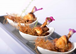 Fried chicken wings with lemongrass